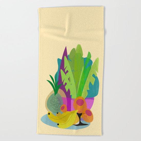 Tropical Breakfast Beach Towel