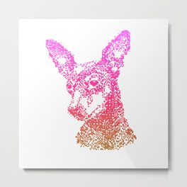 Min Pin Pink Mosiac Metal Print