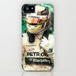 Lewis Hamilton Abstract iPhone Case
