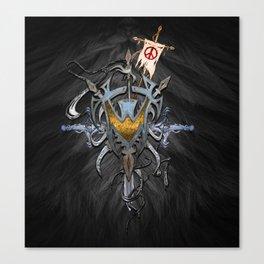 banner shield thingie Canvas Print