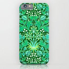 William Morris Hyacinth Print, Emerald Green iPhone Case