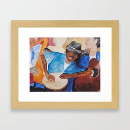 Coastal Musicians Framed Art Print