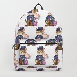 A couple of cats in retro fashion Backpack
