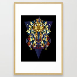Golden Tutankhamun - Pharaoh's Mask Framed Art Print