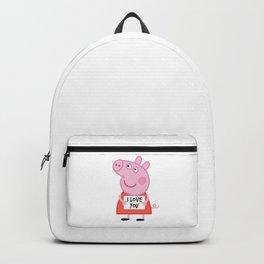 Peppa pig  i love u Backpack