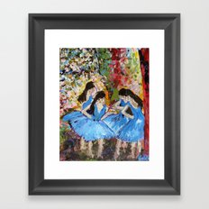 Blue Dancers Framed Art Print