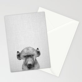 Baby Baboon - Black & White Stationery Cards