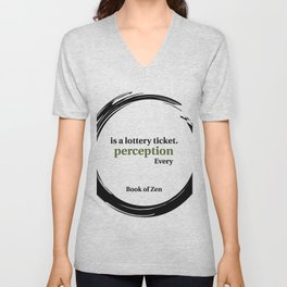 Inspirational Quote About Reality Unisex V-Neck