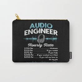 Audio Engineer Hourly Rate Motif Carry-All Pouch