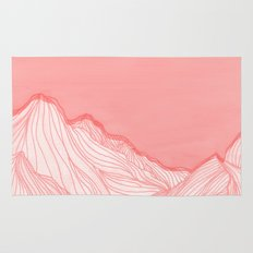 Lines in the mountains - pink Rug