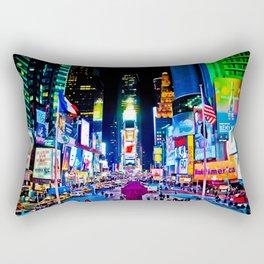 Times Square New York City Rectangular Pillow