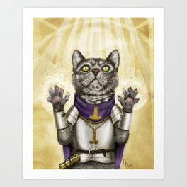 Cleric Cat Art Print