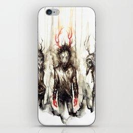 [CanisLupus CorvusCorax ] iPhone Skin