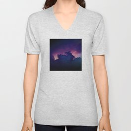 Bad Ass Purple Sky Unisex V-Neck