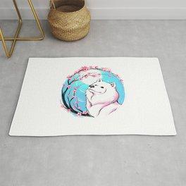 Samoyed Sakura Rug
