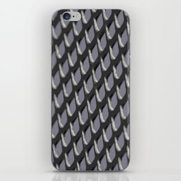 Just Grate Abstract Pattern With Heather Background iPhone Skin