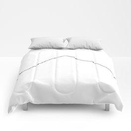 K2 Art Print / White Background Black Line Minimalist Mountain Sketch Comforters