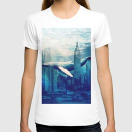 Blue Whale in NYC T-shirt