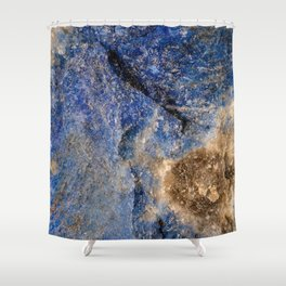 Lapis lazuli texture up close Shower Curtain