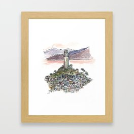 Coit Tower -  San Fancisco - watercolor sketch Framed Art Print