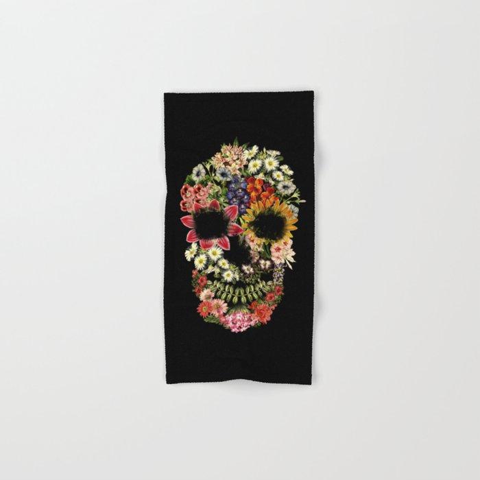 Floral Skull Vintage Black Hand & Bath Towel