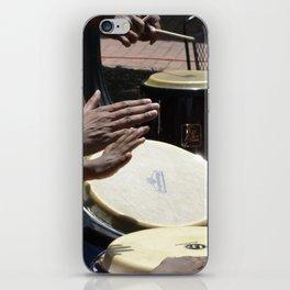 playing bongos iPhone Skin