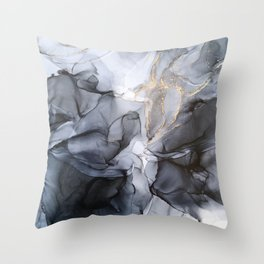 Calm but Dramatic Light Monochromatic Black & Grey Abstract Deko-Kissen