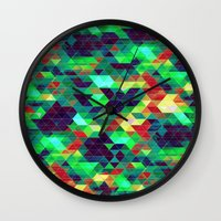 science Wall Clocks featuring Science by KRArtwork