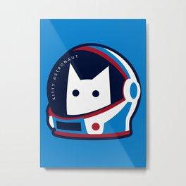 Kitty Astronaut Metal Print