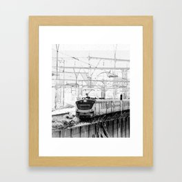 Clackety clack on the railway line Framed Art Print