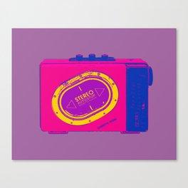 FAVOURITE90 - Walkman Pink Canvas Print