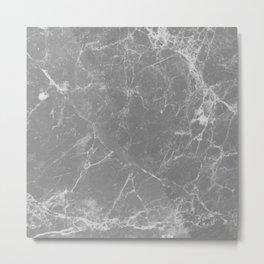 Grey Marble Metal Print