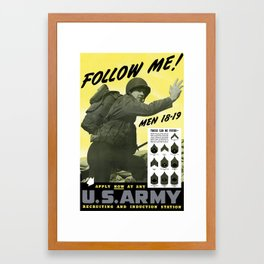 Follow Me - Join The Us Army  Framed Art Print