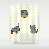 shadow Shower Curtains featuring Shadow by rogueleader