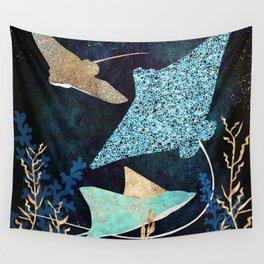 Metallic Stingray II Wall Tapestry