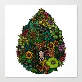 "Floral Uterus ""緑(ROKU)"" Canvas Print"