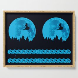 The Moon on Dragon Ball - Blue Serving Tray