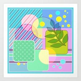 An abstract painting .   Good morning! Art Print
