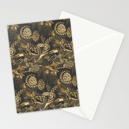 golden birds in the paisley forrest Stationery Cards
