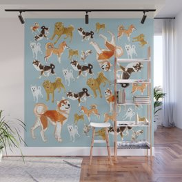 Japanese dogs Wall Mural