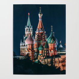 St. Basil's Cathedral   Barma e Postnik Architects Poster