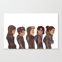 cargline Canvas Prints featuring Post Apocalyptic  by cargline