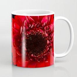 Red Flowers On A Black Background #decor #buyart #society6 Coffee Mug