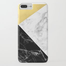 Marble & Gold Collage iPhone Case