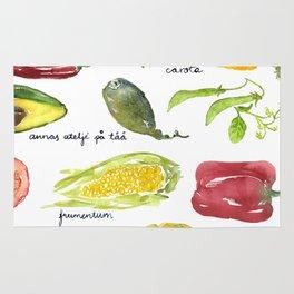 Anna's vegetable market Rug
