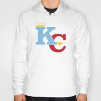 kansas city Hoodies featuring Kansas City Sports Red & Blue by Haley Jo Phoenix