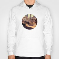 central park Hoodies featuring Bridge in Central Park by Ambers Vintage Find