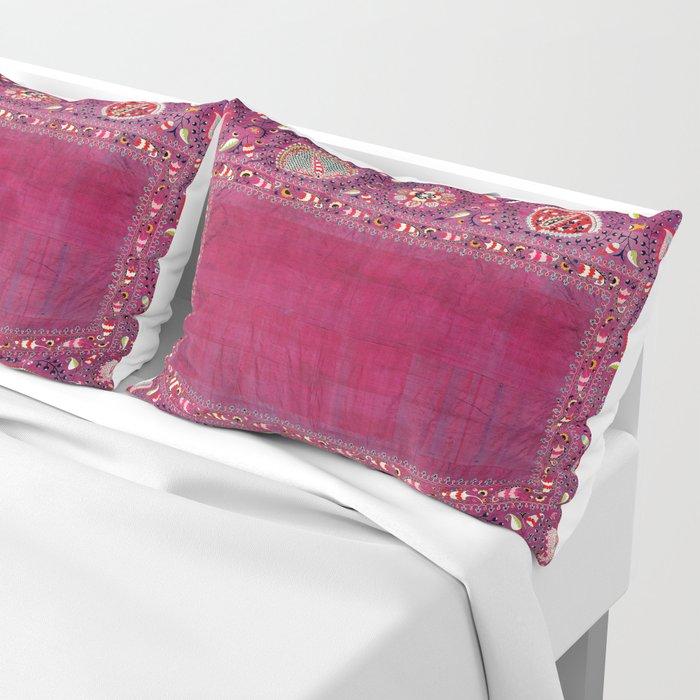 Shakhrisyabz  Southwest Uzbekistan Suzani Embroidery Print Pillow Sham