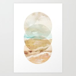 Abstract Beach - Circle Print Art Print