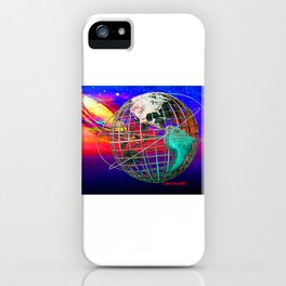 Earth and Andromeda Galaxy iPhone Case